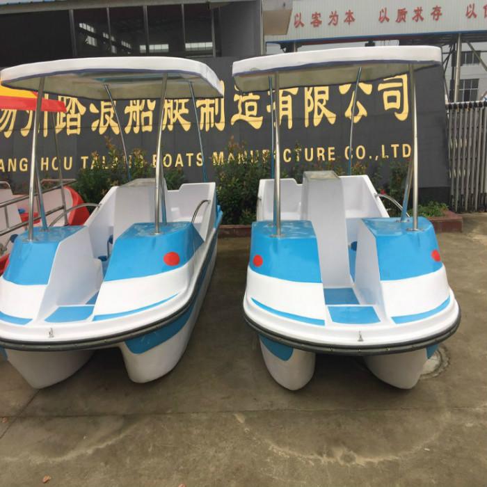 厂家直销/公园游船/4人脚踏船/自排水脚踏船/水上三轮车