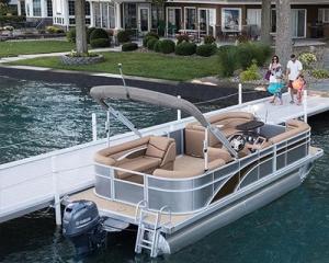 铝合金双体浮筒游艇